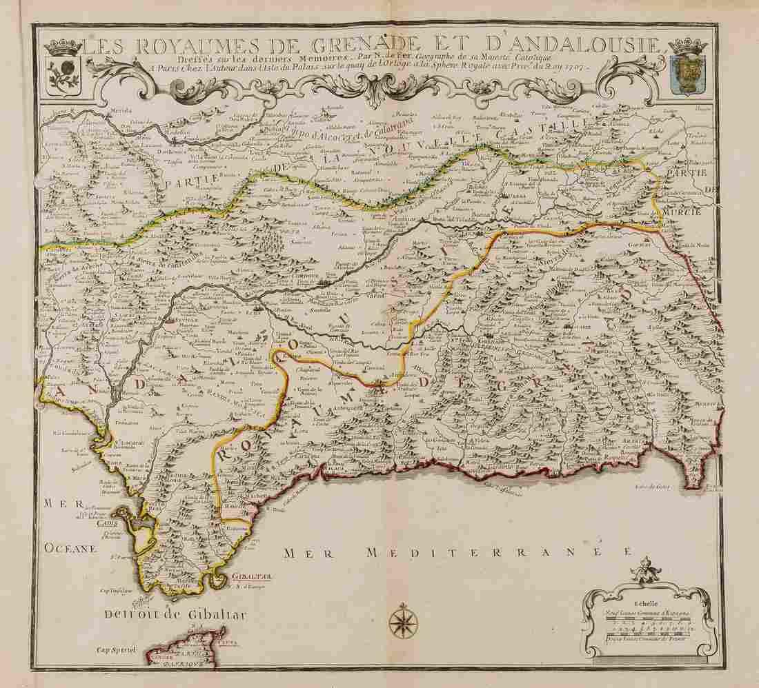 Spain.- Fer (Nicholas de) Les Royaumes de Grenade et