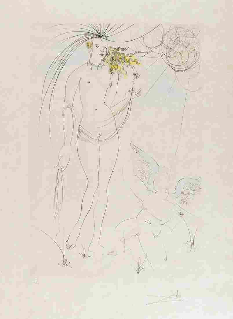 δ Salvador Dali (1904-1989)  Venus et L'Amour
