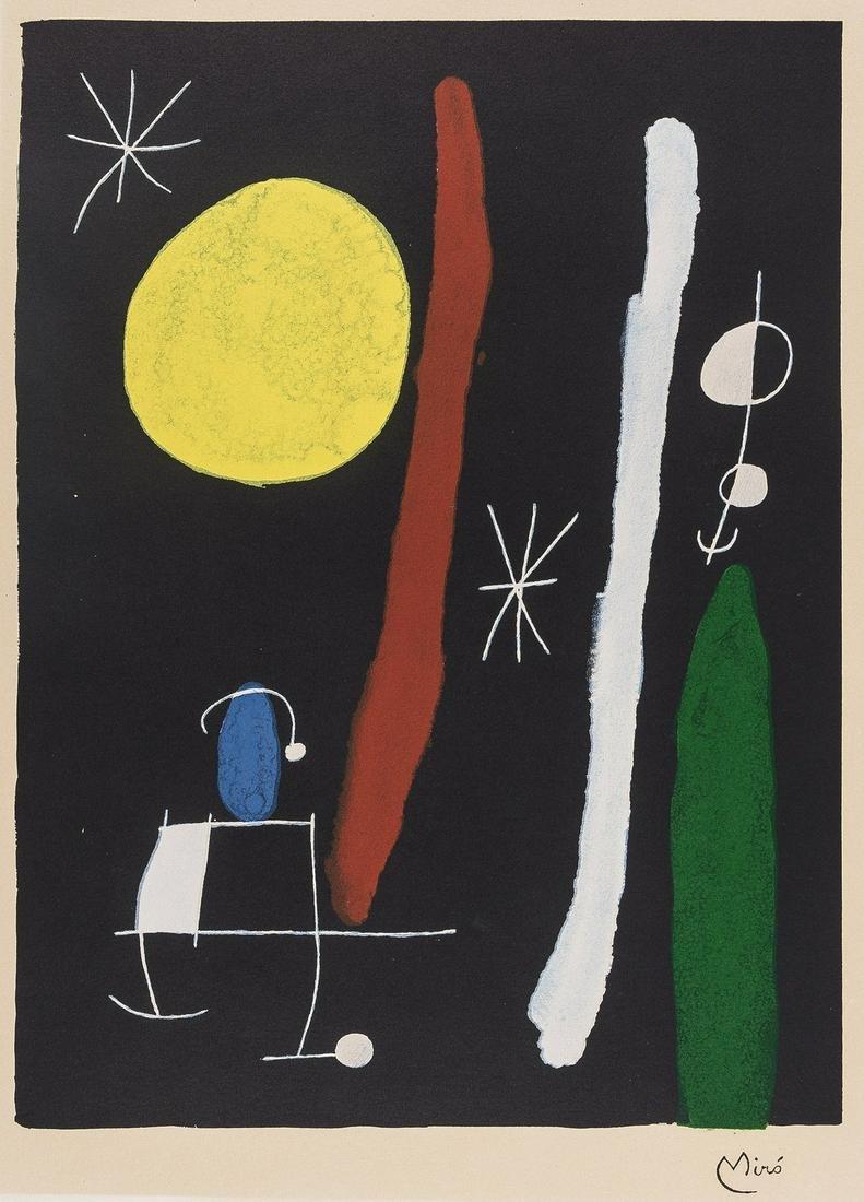 δ Joan Miro (1893-1983) (after)  Personnage et