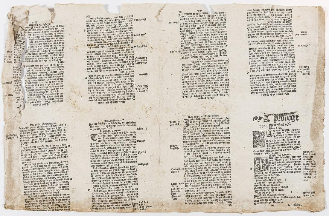 Bible, New Testament.- A Prologue upon the gospel of