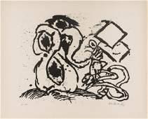 948 Pierre Alechinsky b1927  Untitled