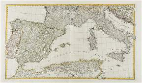 Europe Adam I Map of the Mediterranean Sea and