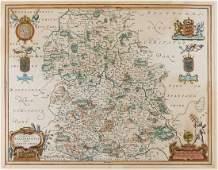 Shropshire Blaeu Johannes Comitatus Salopiensis