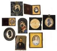 Portraiture.- English School (19th century) Eight