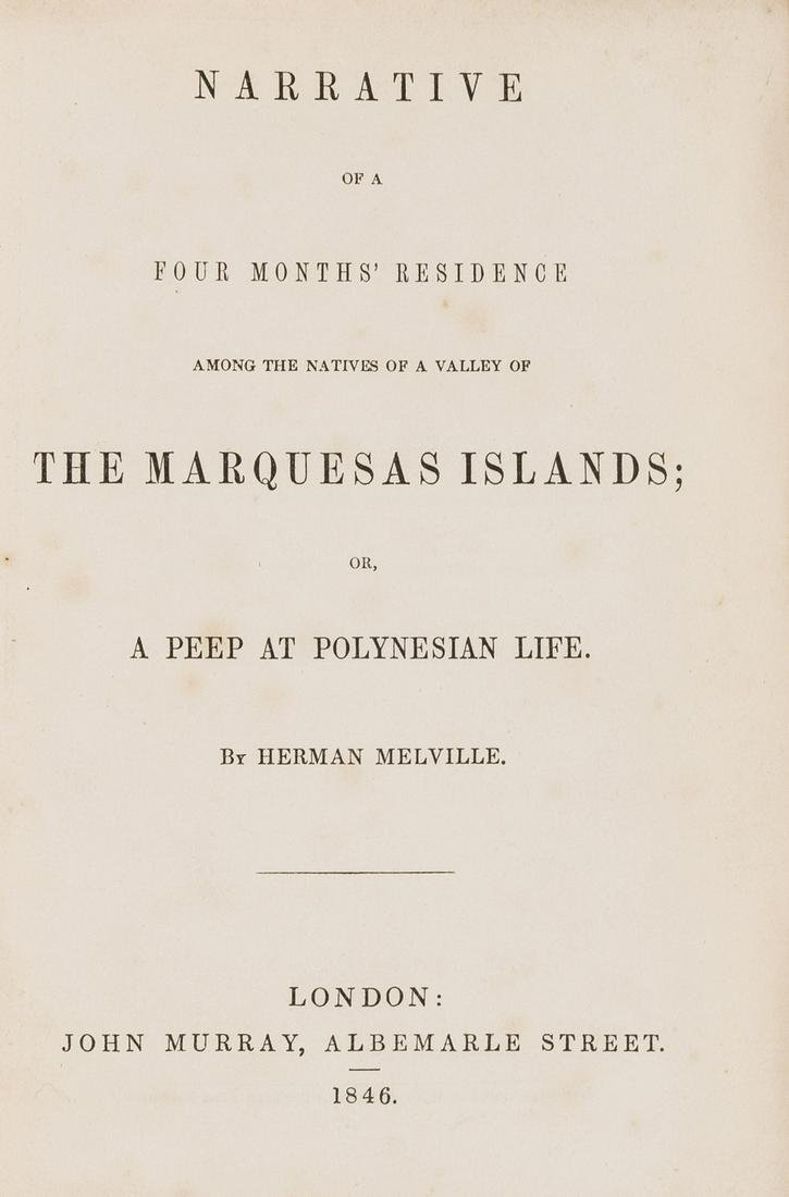 South Seas.- Melville (Herman) Narrative of a Four