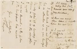 Tennyson (Alfred, first Baron Tennyson) Autograph