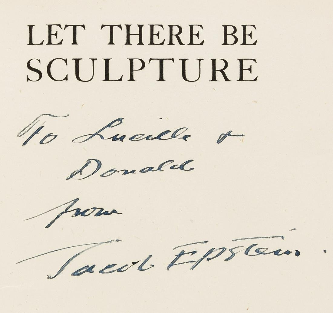 Epstein (Jacob) Let there be Sculpture. An