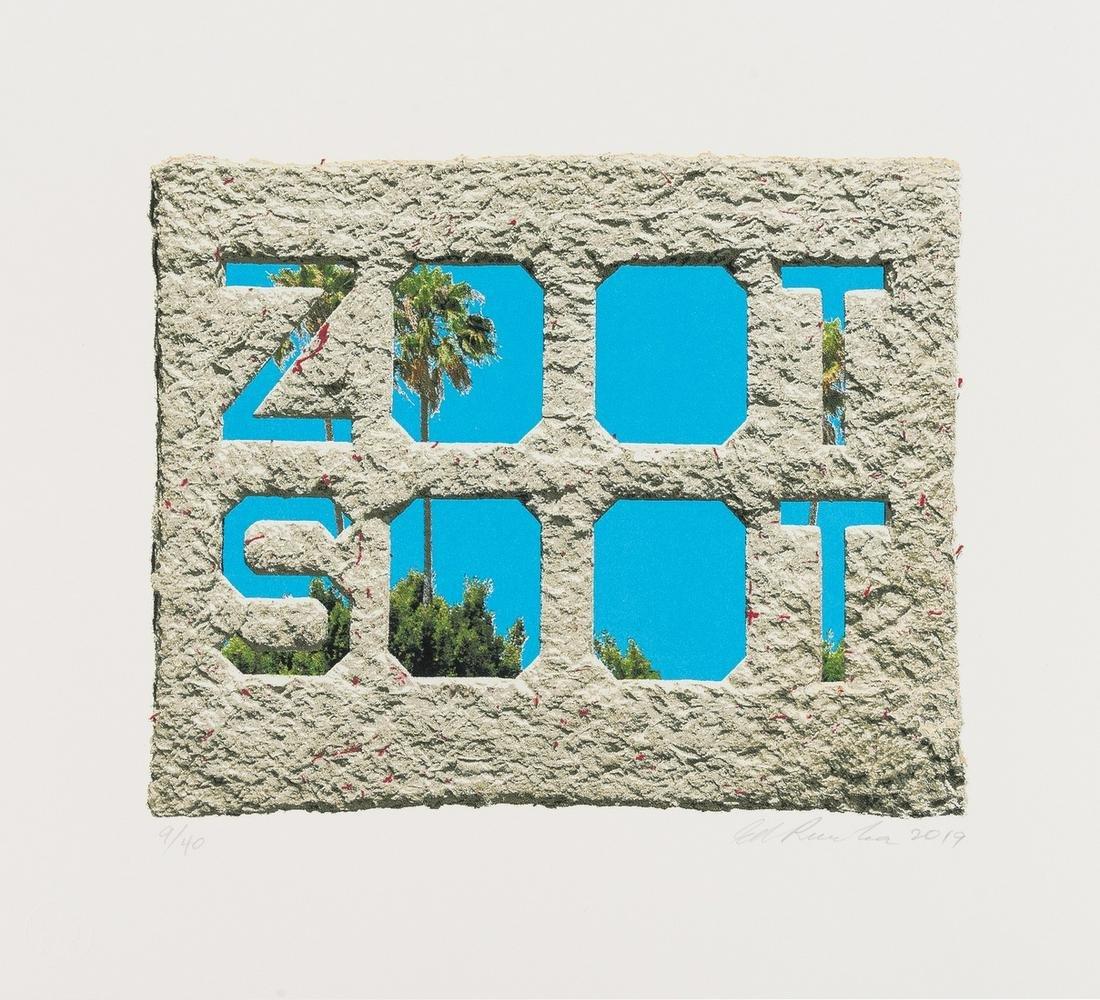 Ed Ruscha (b.1937)  Zoot Soot (Dedicated to the Memory