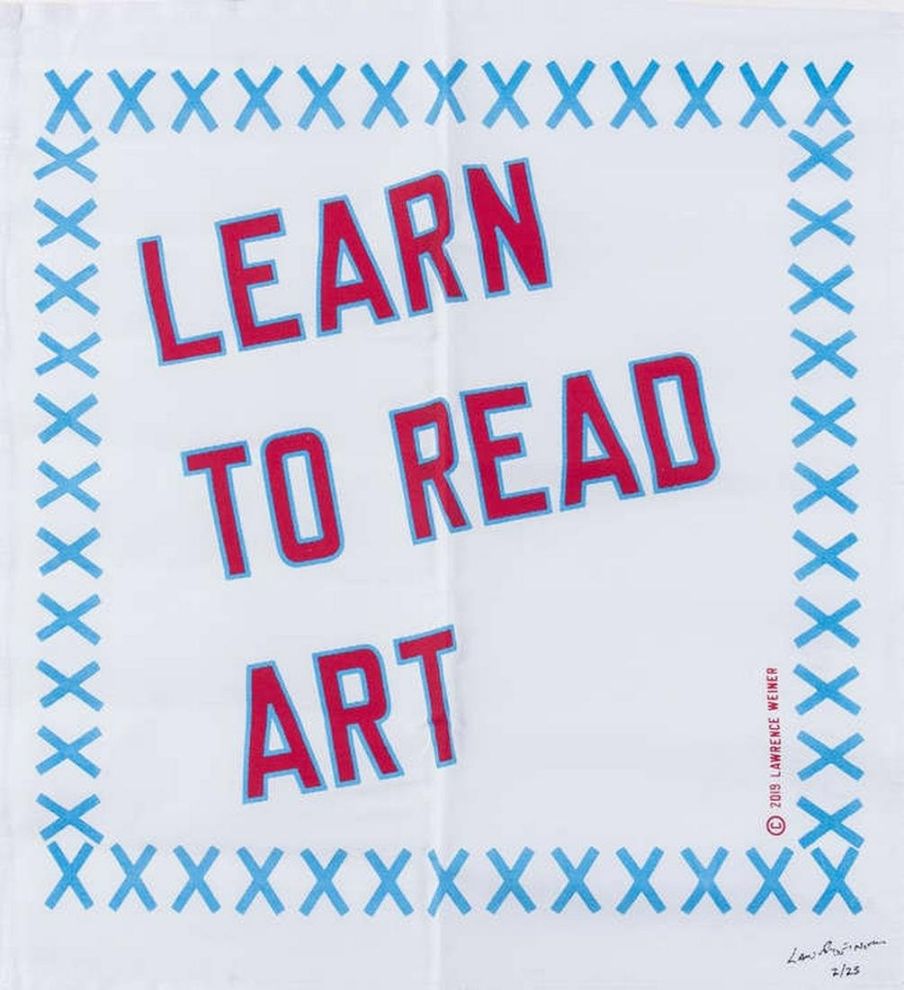 Lawrence Weiner (b.1942)  Learn to Read
