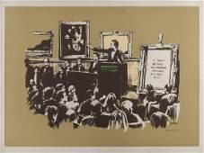 δ Banksy (b.1974) Morons (Sepia)