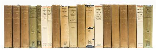 Law.- Holdsworth (William Searle) A History of English