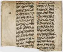 Medieval Religious commentaries manuscript in