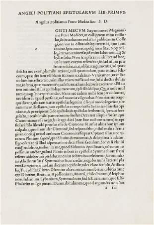 Aldus.- Politianus (Angelus) Opera, first collected