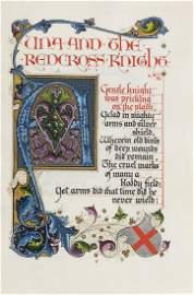 Binding & Calligraphic Manuscript.- Sangorski