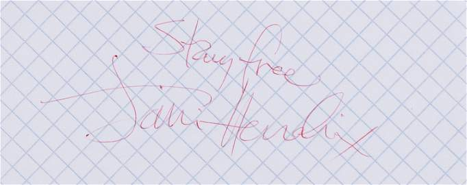 Hendrix (Jimi) Cut signature; together with a letter of