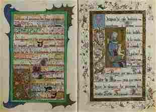 Illuminated prayer book.- Maria Carcer y Trigueros...