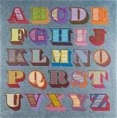 δ Ben Eine (b.1970)  Shutter Font A-Z