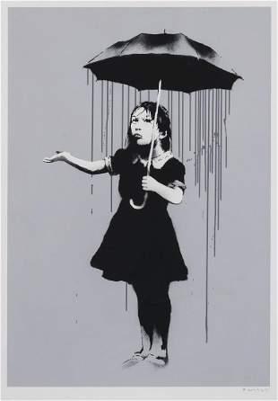 δ Banksy (b.1974) NOLA (Grey Rain)