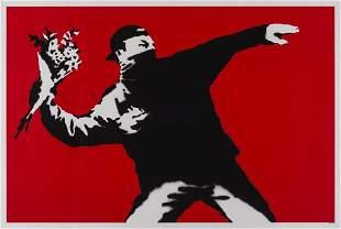 δ Banksy (b.1974) Love is in the Air