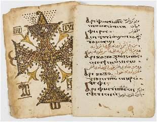 .Coptic, c. 55ff. from Coptic prayer books,manuscript