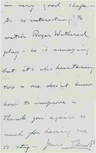 Golf.- Edward VIII (King, as Prince of Wales) Autograph