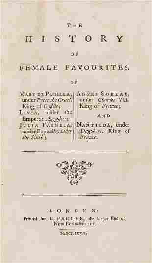 Women.- La Roche-Guilhem (Anne de) The history of
