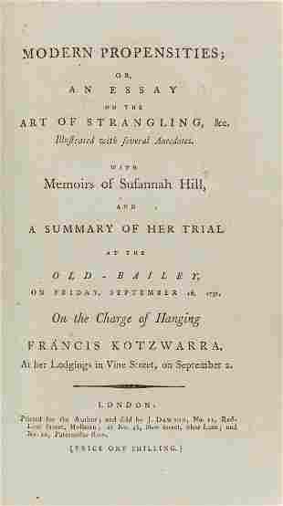 Female strangler.- Modern propensities; or, an essay on