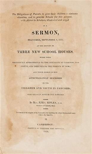 Education.- Ripley (Rev. Ezra) The Obligations of