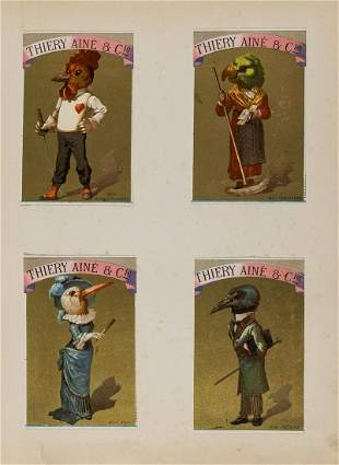Trade cards.- Album of Victorian chromolithograph trade