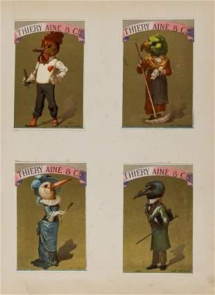 Trade cards.- Album of Victorian chromolithograph trade