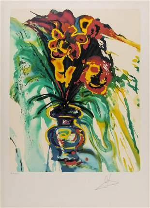δ Salvador Dali (1904-1989)  Fleurs Surré