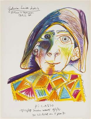 δ Pablo Picasso (1881-1973) after.  L'Arlequin.