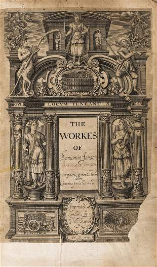 Large paper copy.- Jonson (Ben) The Workes, first