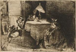 Whistler (James Abbott McNeill) The Music Room, etching