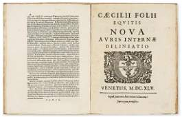 Folli (Cecilio) Nova auris internae delineatio, first