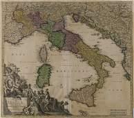 Italy & Mediterranean.- Homann (Johann Baptist) Statuum