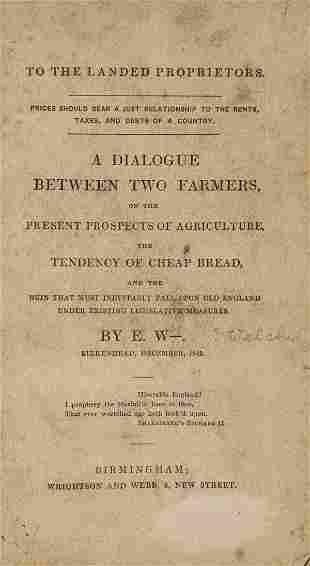 Agriculture & Bread.- W. (E.) To the landed proprietors