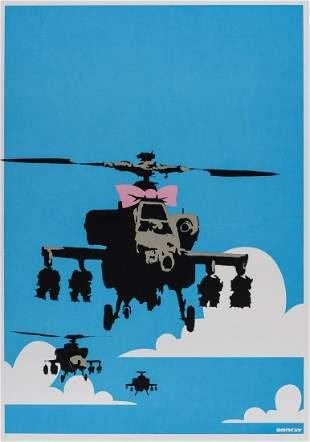 δ Banksy (b.1974)  Happy Choppers