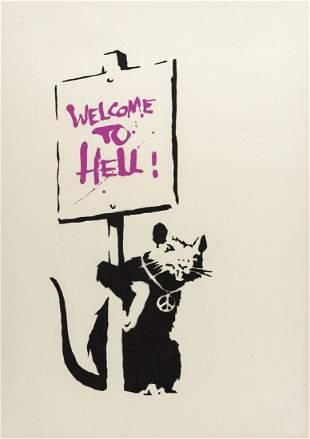 δ Banksy (b.1974)  Welcome to Hell (Pink)