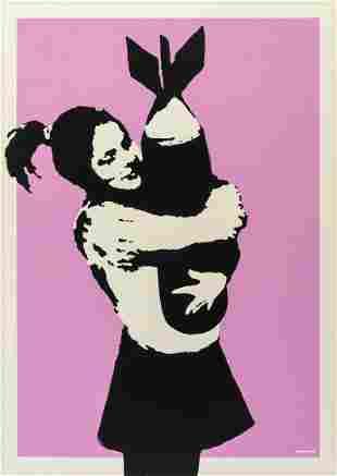 δ Banksy (b.1974)  Bomb Love (Bomb Hugger)
