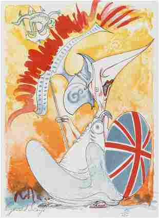 Scarfe (Gerald) Gerald Scarfe, first edition signed