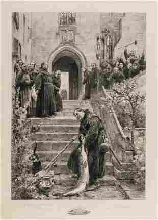Sadler (Walter Dendy) Habet!, etching, 1906; and four