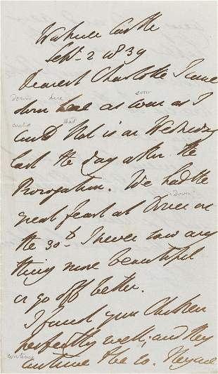 Wellington (Arthur Wellesley, first Duke of) Autograph