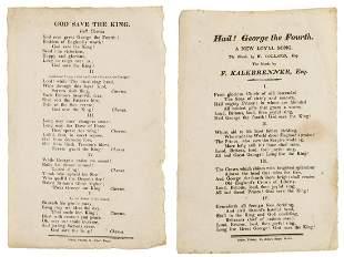 Broadsides.- God save the King, [Bristol], Major, St.