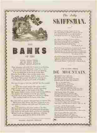Broadside songs.- The Banks of the Dee, The Jolly