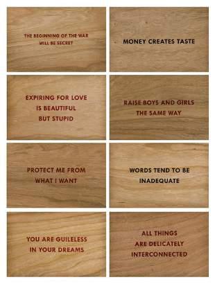 Jenny Holzer (b.1950) Truisms (set of eight)