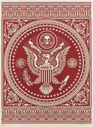 Shepard Fairey (b.1970)  Presidential Seal (Red)