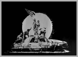 δ Banksy (b.1974) Silver Flag