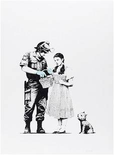 δ Banksy (b.1974) Stop and Search (Signed)