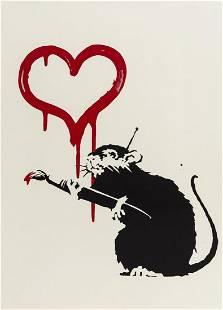 δ Banksy (b.1974) Love Rat
